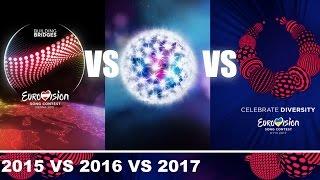 Eurovision 2015 vs 2016 vs 2017