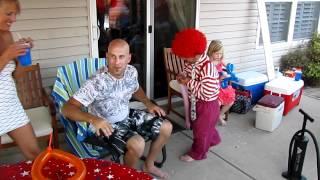 Drunken midget birthday clown