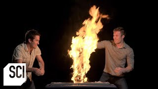 Fire Jenga?!?  | Outrageous Acts of Science