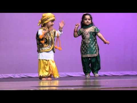 Bhangra by two cute little girls
