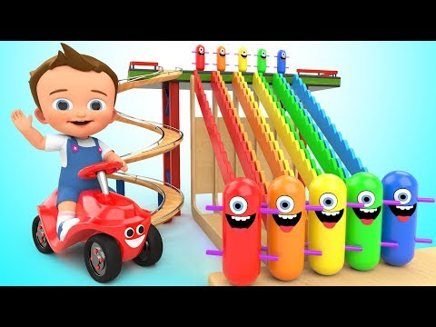 Learn Colors for Children with Baby Game Play Wooden Toy Funny Clown Tumbling 3D Kids Educational
