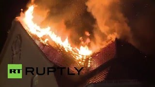 Germany: Eight-storey building catches fire in Berlin's Frankfurter Allee