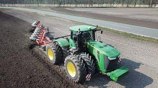 John Deere 9560R Ploughing W/ 10-Furrow Kuhn Vari-Challenger Plough | Danish Agriculture