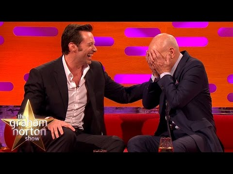 Hugh Jackman Loses It Over Sir Patrick Stewart's Ridiculous Circumcision Story Graham Norton Show
