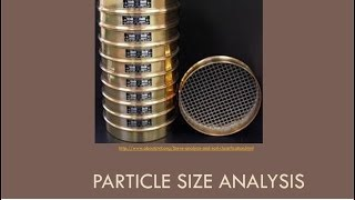 CEEN 341 -  Lecture 2 -  Particle Size Analysis