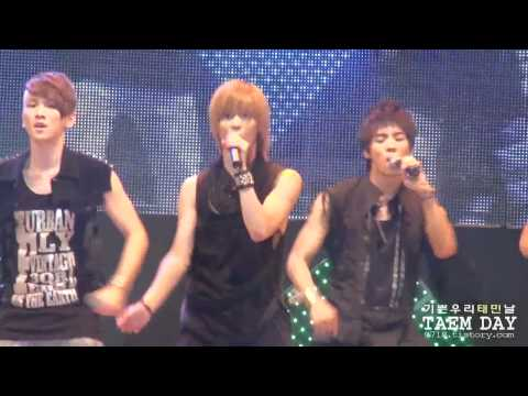 100824 SHINee Lucifer Taemin focused fancam Big Star Concert