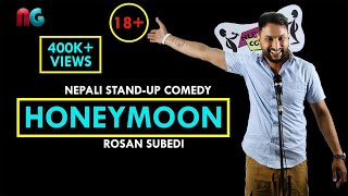 18+ Suhagraat (Honeymoon) | Nepali Stand-up Comedy | Rosan Subedi | Nep-Gasm Comedy