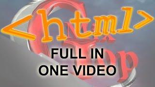 في فيديو واحد - تعلم تصميم مواقع الإنترنت بـ HTML من الصفر الي الإحتراف
