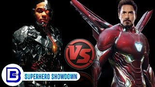 IronMan Vs Cyborg | Marvel Vs DC | Superhero Showdown In Hindi | BlueIceBear