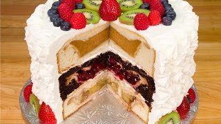 Cherpumple: Triple Layer Pie in a Cake from Cookies Cupcakes and Cardio