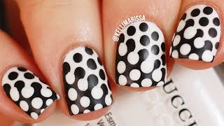 Trippy Polka Dot Nail Art Design DIY! || KELLI MARISSA