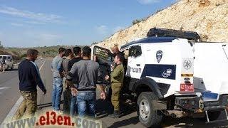 مشاحنات بين الشرطة الاسرائيلية ومواطنين اعتراضا على تحرير مخالفات سير لهم . برطعة