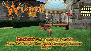 Wizard101 Fastest Pet to Mega Gobbler Blocks Trick to 1 and 2 Shot Maps