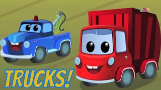 Zeek And Friends | Trucks Every Where | Car Rhymes
