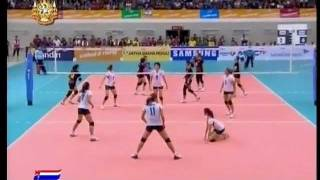 Thailand vs Indonesia - set 2 - Women Volleyball - 26th SEA GAMES