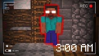 What HAPPENS When Herobrine Plays Minecraft at 3:00 AM?