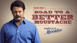 How to Grow a Moustache with Nick Offerman - Movember