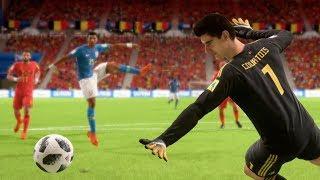 World Cup 2018 Belgium vs Brazil - World Cup Quarterfinals Full Match Sim (FIFA 18)