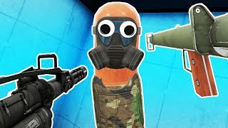 DESTROYING ROBOT HOT DOGS IN VR! - Hot Dogs Horseshoes and Hand Grenades Gameplay -  HTC Vive VR