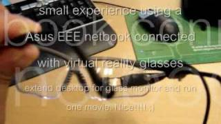 Connect virtual reality glasses into a laptop