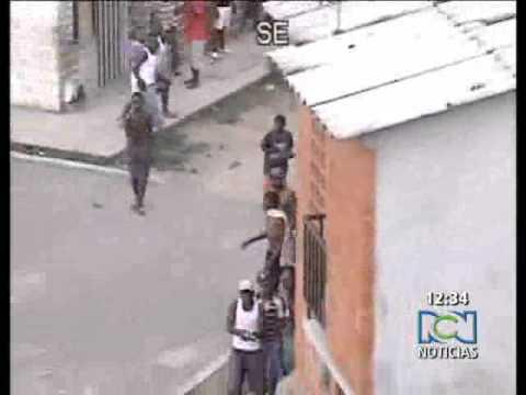 Batalla campal de pandillas en Cali Colombia