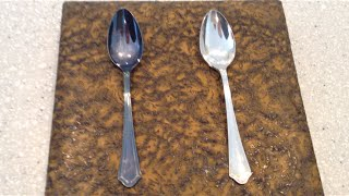 Clean silver, removing tarnish instantly without polishing or harsh chemicals