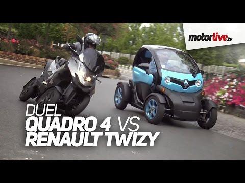 DUEL Quadro 4 vs Renault Twizy vraiment different