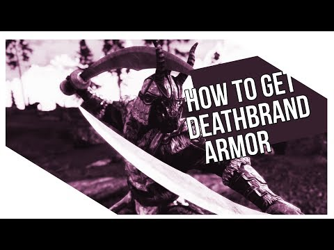 How To Get Deathbrand Armor In Skyrim Unique Light Armor Best