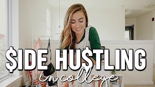 EASY SIDE HUSTLES FOR COLLEGE   how to make money + budget