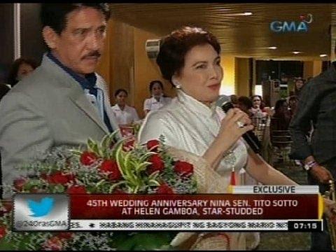 24 Oras 45th wedding anniversary nina Sen. Tito Sotto at Helen Gamboa star studded