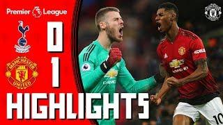 Highlights   Tottenham 0-1 Manchester United   De Gea & Rashford shine at Wembley   Premier League