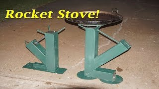 Building A Gravity Feed Rocket Stove