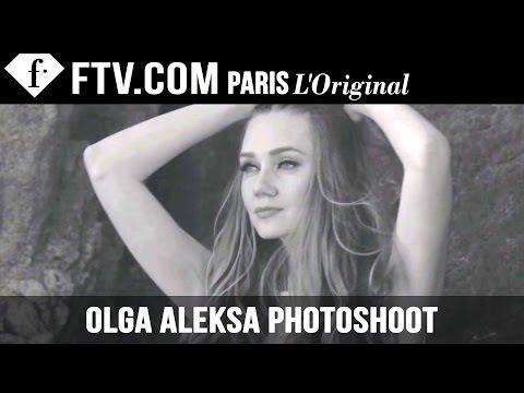 Fashion Model Olga Aleksa at the Beach in Couture FashionTV