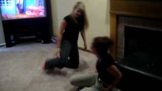 brittany and megan wrestle