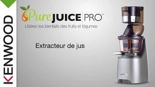 Présentation  de l'extracteur de jus Pure Juice PRO JMP800SI de Kenwood