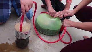 Super Wubble Bubble Ball Mentos Diet Coke Fun Experiment for Kids!!