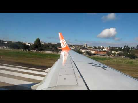 Voo GOL decolando de Porto Alegre POA AGO 2010