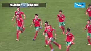 ملخص لقاء المغرب لأقل من 16 سنة ضد البرازيل سنة 2015 وتألق أشرف داري وتسجيله لهدف
