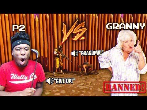 10 yr Old HATER BRINGS GRANDMA ON THE MIC OVER THIS 1V1 CRAZIEST 1V1 EVER