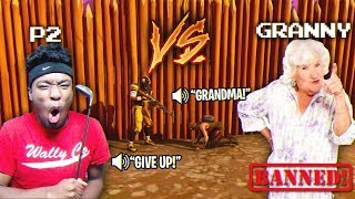 10 yr Old HATER BRINGS GRANDMA ON THE MIC OVER THIS 1V1! CRAZIEST 1V1 EVER