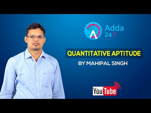 Quantitative Aptitude Ratio and Proportion- 1 by Mahipal Singh