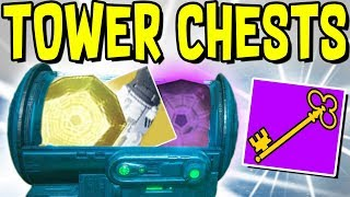 Destiny 2 - SECRET TOWER CHESTS GUIDE! Dance Party Key Location, Loot A Palooza Key, Tower Secrets