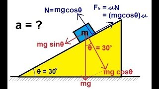 Physics - Mechanics: The Inclined Plane (2 of 2) With Friction