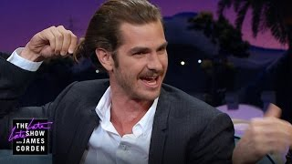 Andrew Garfield Lets His Hair Flow Free