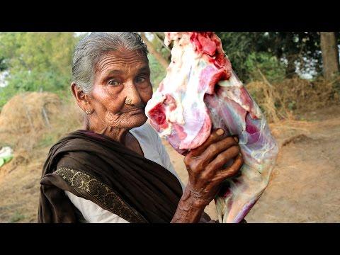 My 105 Years Grandma's Yummy Mutton Recipe | World Best Mutton Curry By My Grandma's | Country Foods