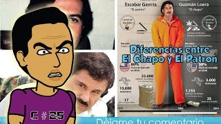 """Las diferencias e historia , entre Joaquin """"El Chapo"""" Guzmán y """"El Patron"""" Pablo Escobar  / SBQ"""