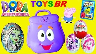 TOYSBR Mochila Falante da Dora a Aventureira | Dora the Explorer Talking Backpack Surprise Toys Eggs