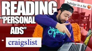 "😂 Reading ""Personal Ads"" on Craigslist! 😂"