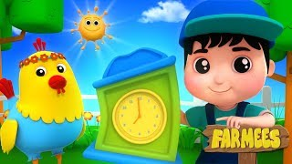 Wake Up In The Morning | Kindergarten Nursery Rhymes For Kids by Farmees
