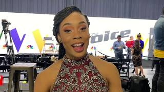 THE VOICE FINALS BACKSTAGE KENNEDY HOLMES THANKS FANS!